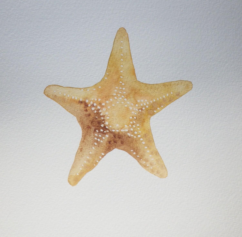 Starfish Watercolor Painting