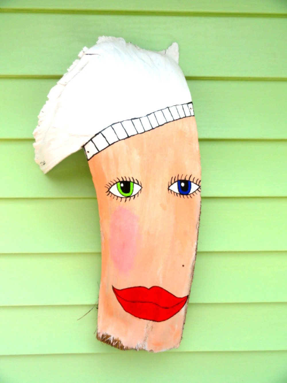Palm Frond Mask Chef Large... Orig.. J Craig... Kitchen Wall Decor