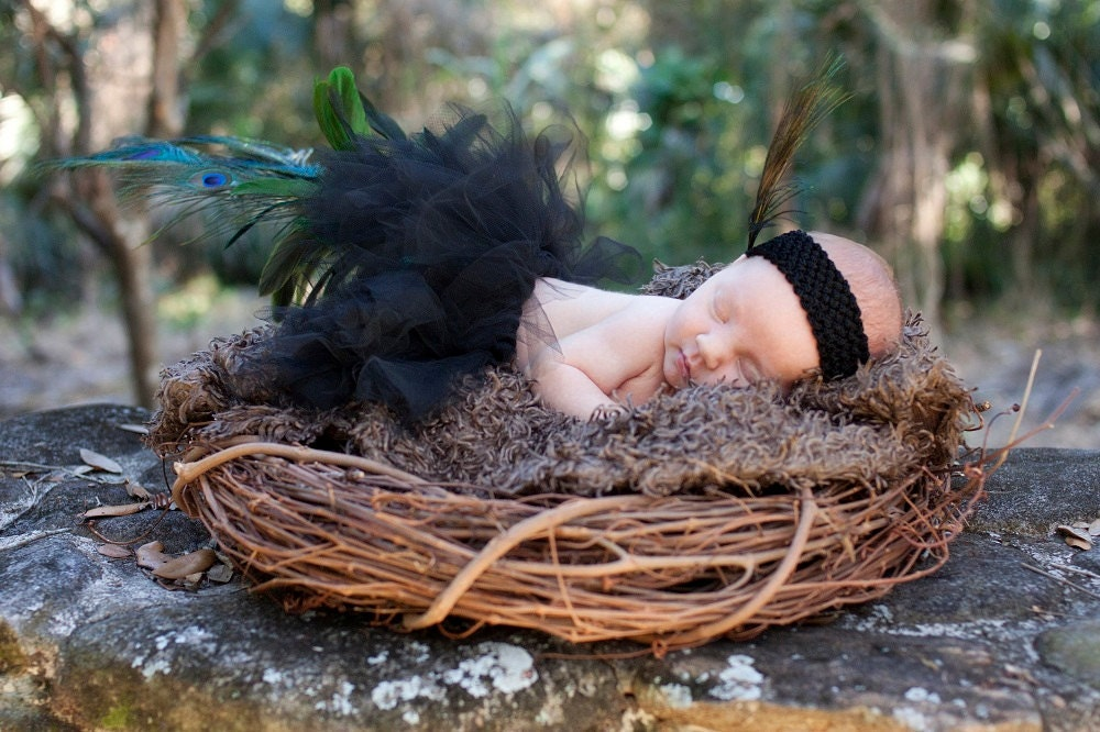 Peacock  Baby Tutu - uptomykneesincrafts