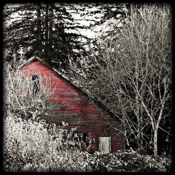 BOGO SALE Buy 1, Get 1 FREE -- Red House - Fine Art Photograph