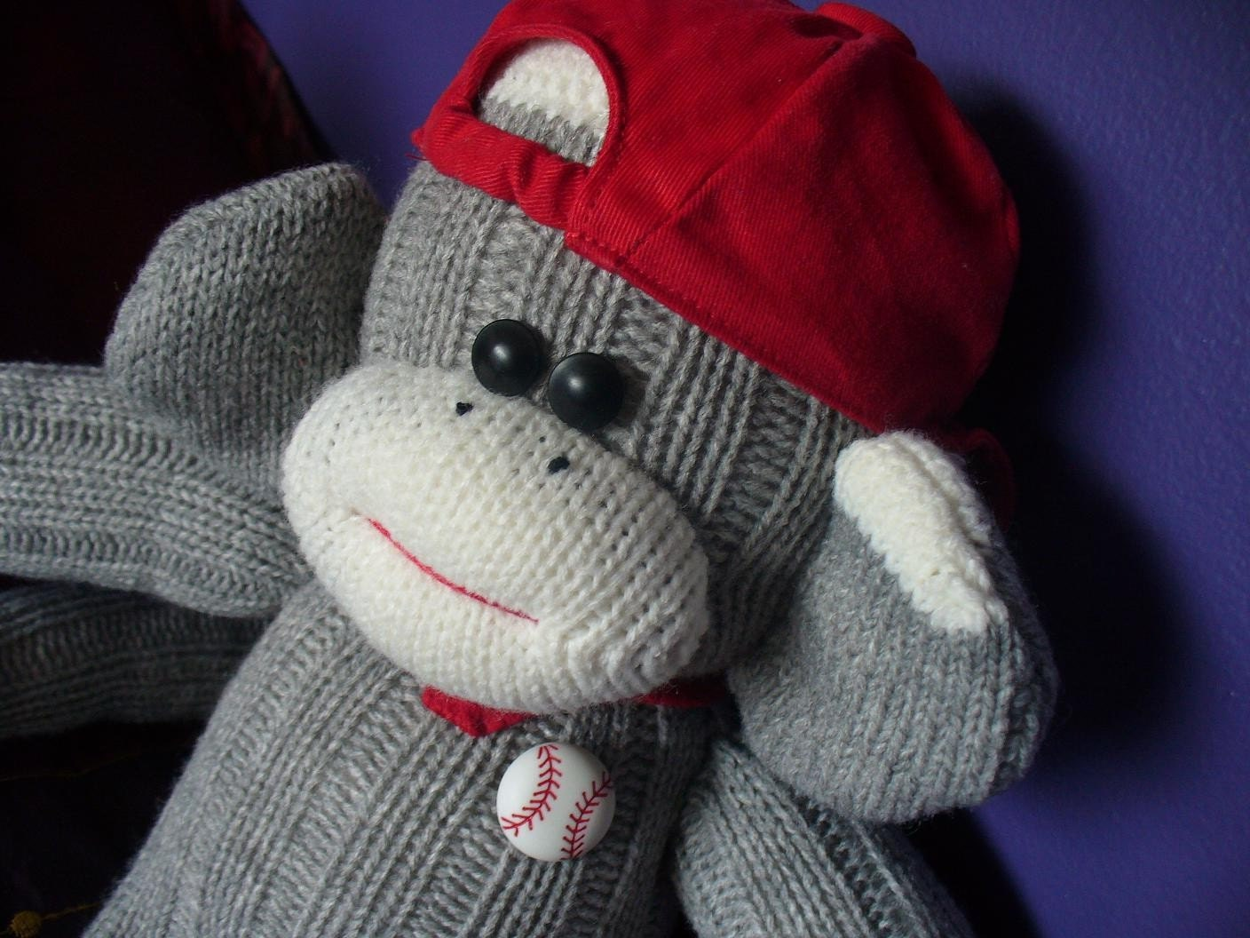 Sock Monkey - Baseball