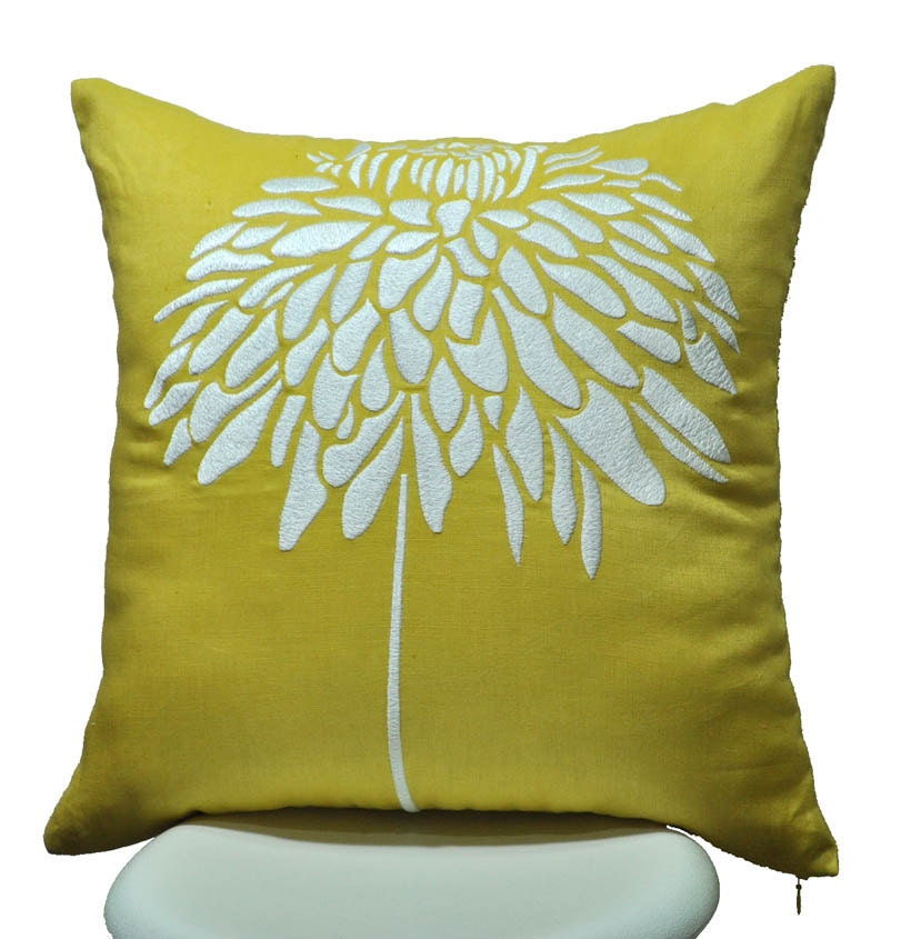 Yellow Throw Pillow Covers : Pillow Cover Throw Pillow Cover Decorative Pillow by KainKain