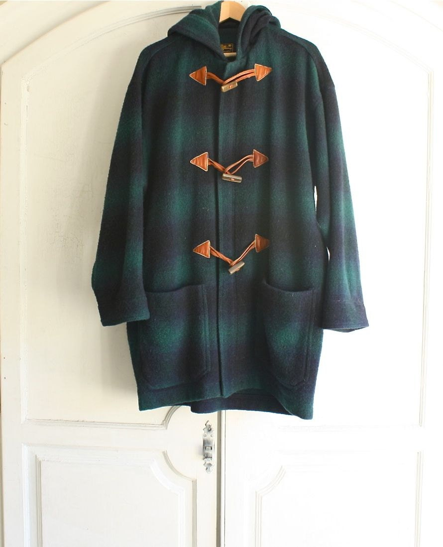 Vintage Eddie Bauer Plaid Duffle Coat Wool Men S By