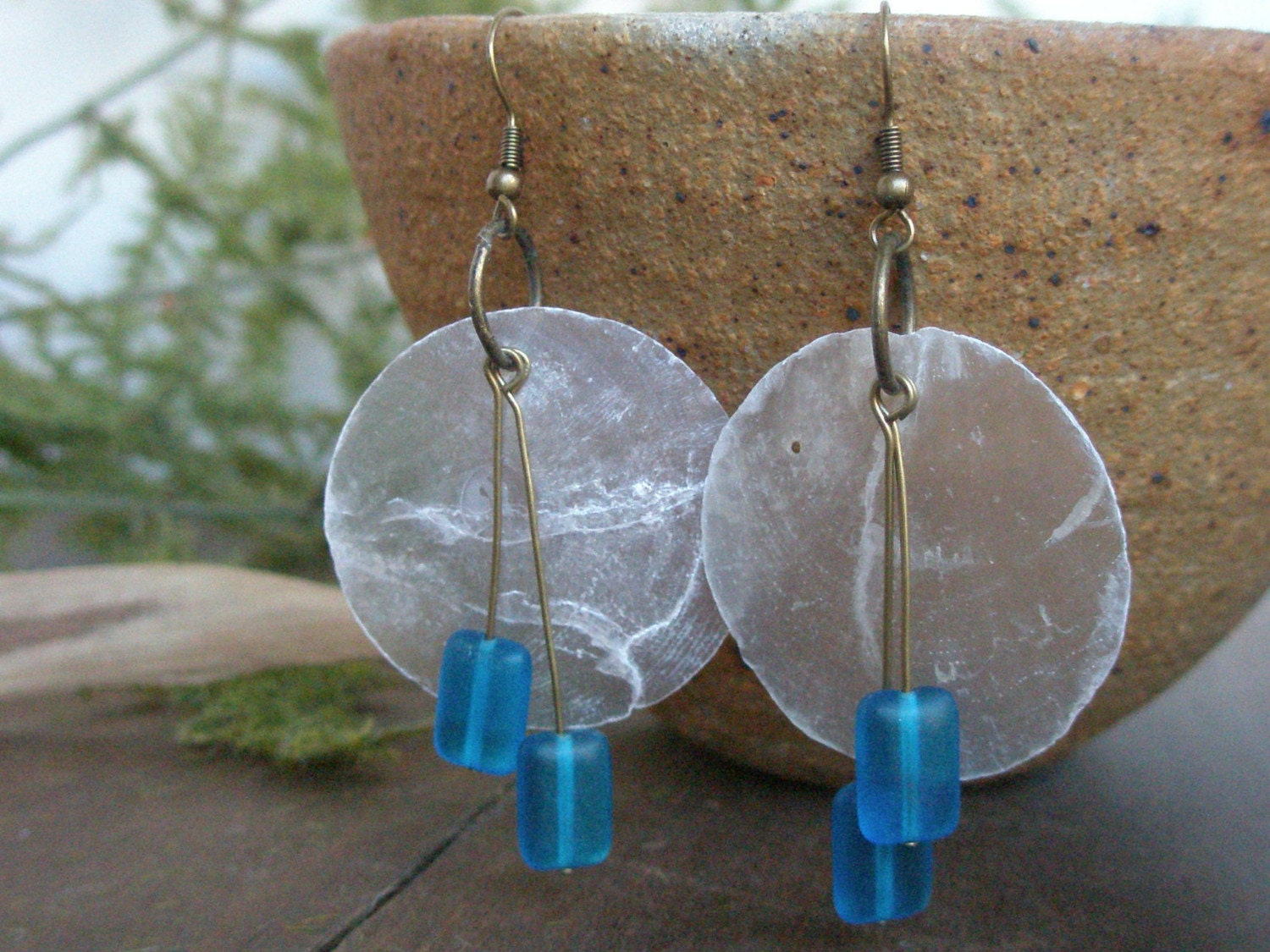 China Moon. earrings