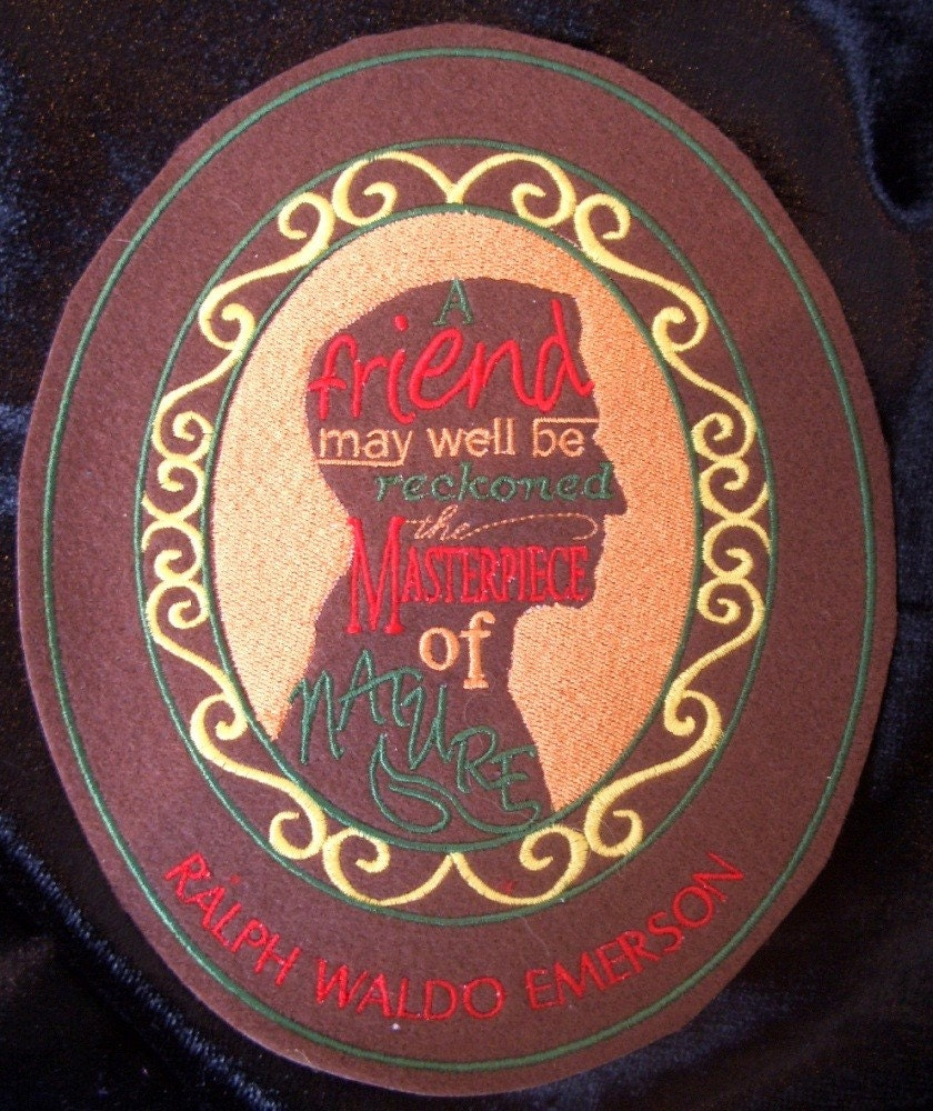 ralph waldo emerson embroidered iron on patch