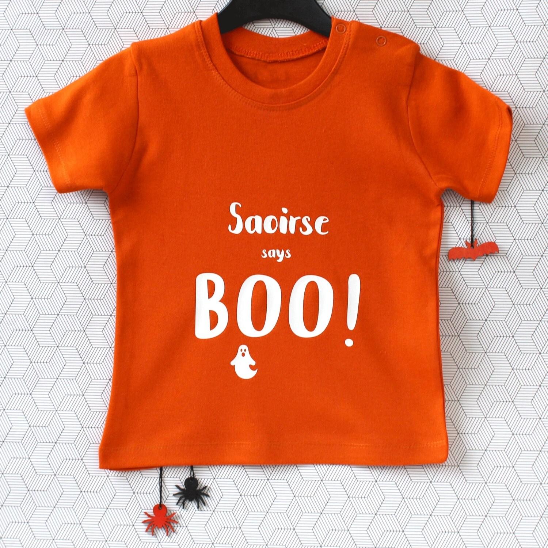 Babies Halloween Costume  Halloween Costume  Kids Halloween Costume  Baby TShirt  Baby Boo T Shirt  Personalised Halloween Costume