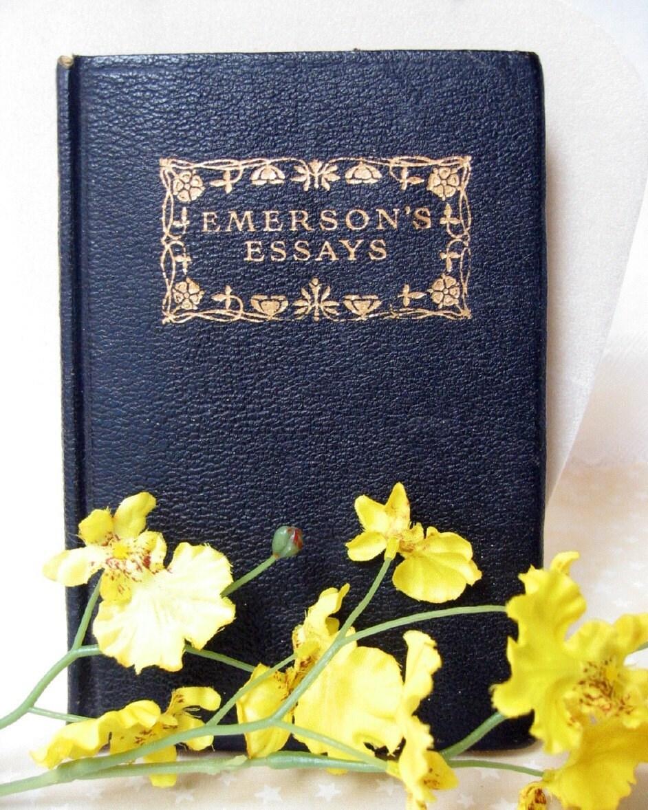 Vintage Leather Ralph Waldo Emerson Essays Book