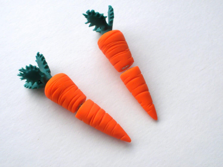 The Original Carrot Fake Gauge Earring- Garden -Vegetable - Farm
