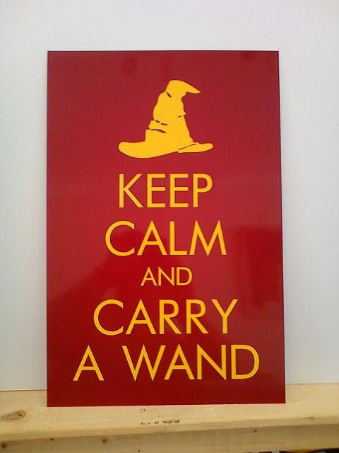 Keep Calm and Carry A Wand custom sign