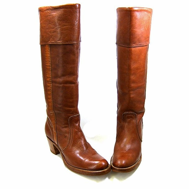 Womens Tall Brown Leather Boots - Boot Hto