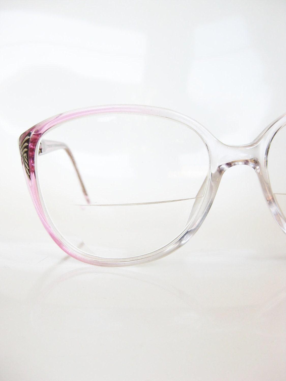 Glasses Frames Pink : Vintage 1980s Eyeglasses Ladies Pink Eyeglass by ...