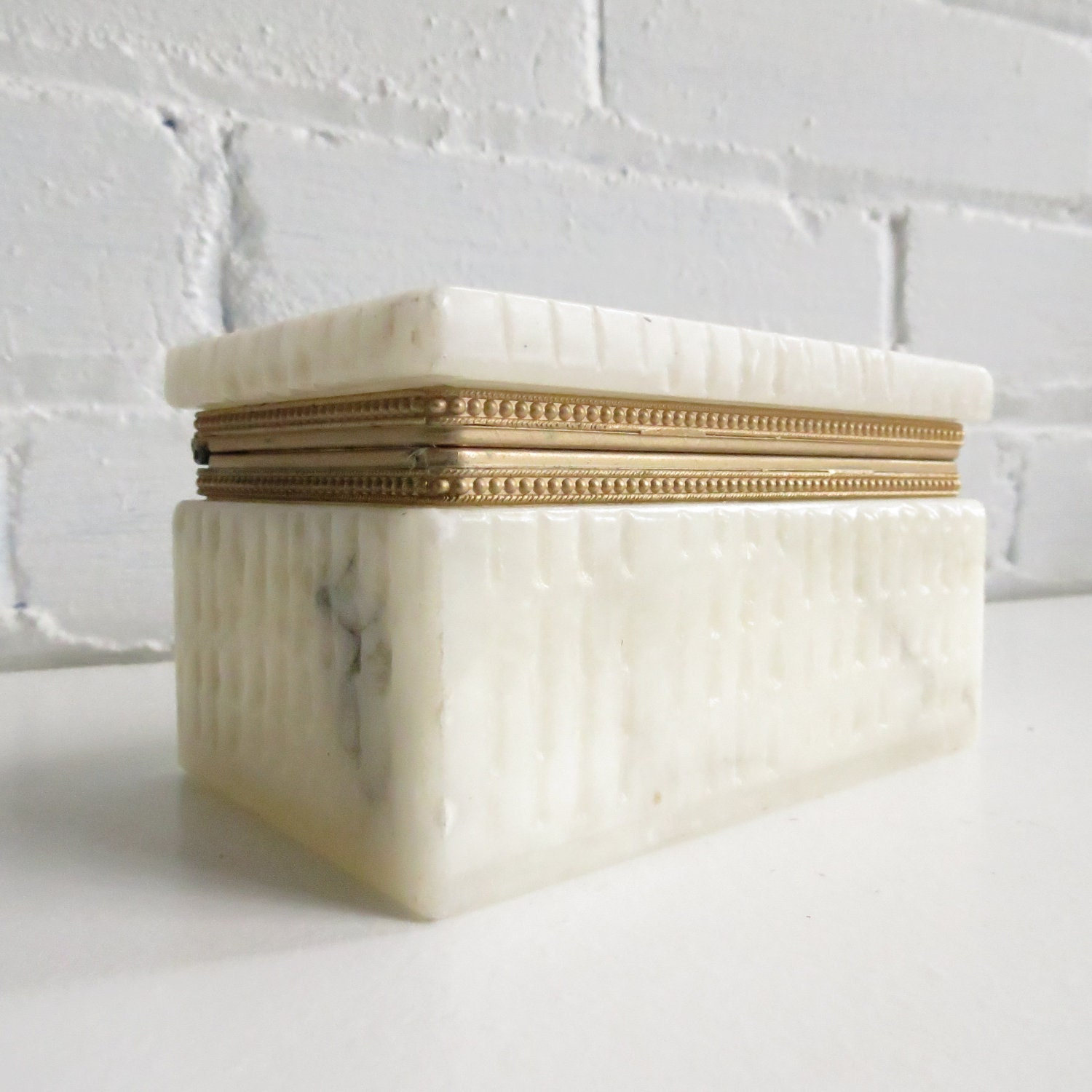 Hinged Marble Jewellery Box