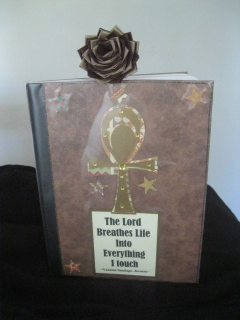 Ankh Journal and Duct Tape Rose pen set or Reflection journal and Duct tape Rose pen set