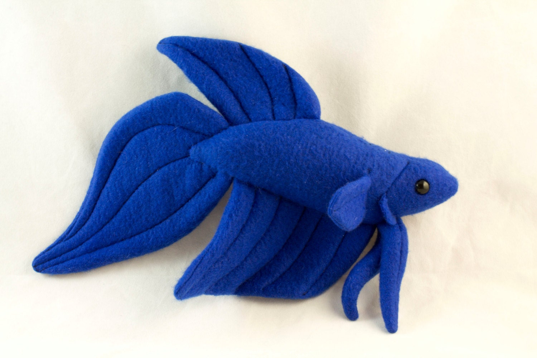 Betta Fish Plush - Royal Blue Veil Tail - BeeZeeArt