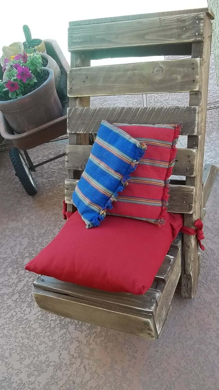 Pallet upcycled silla del patio