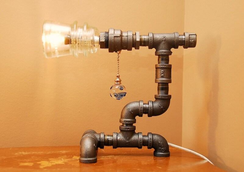 Фото светильников своими руками из труб
