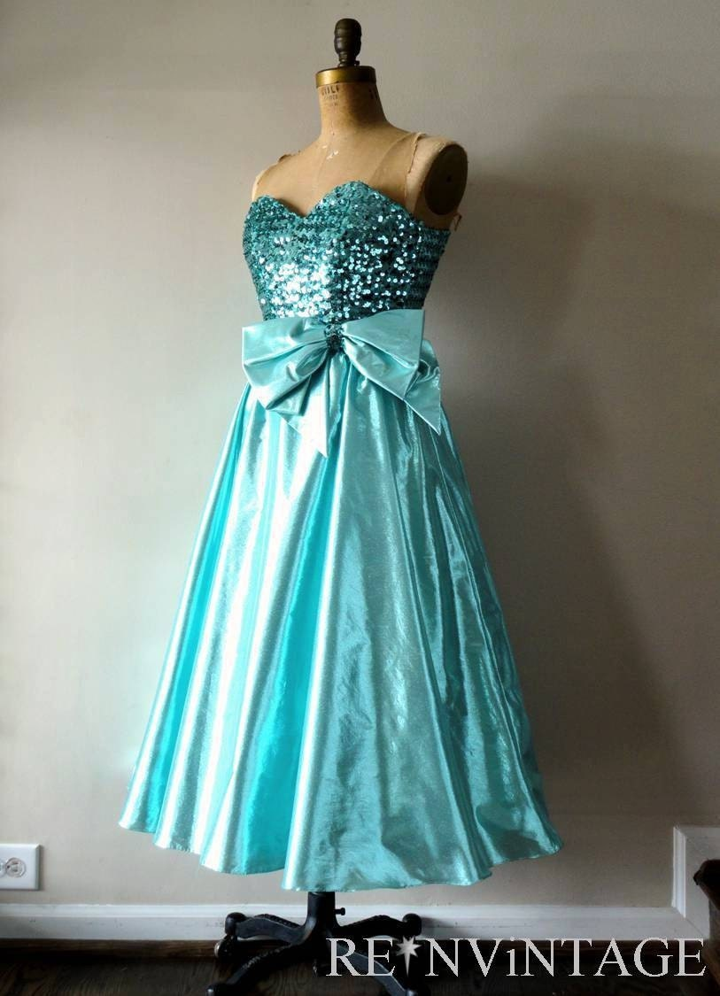 vintage ENCHANTED SEA sequin party dress