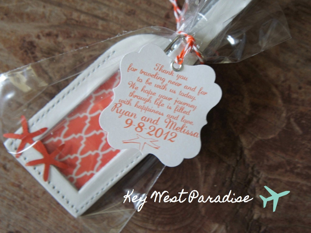 Wedding Favor Luggage Tags Wedding Favors Key West Paradise Luggage Tag By