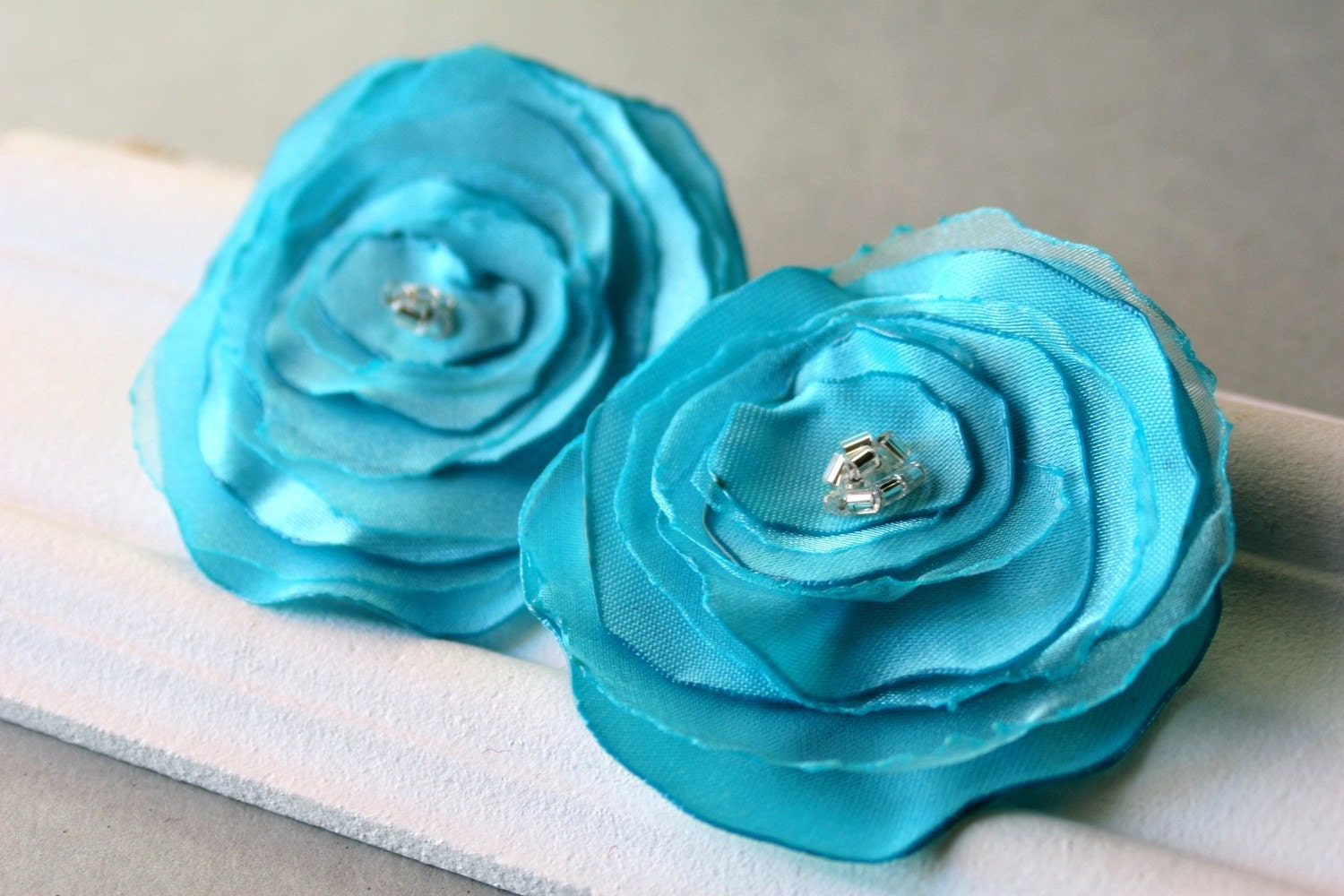 Teal Poppy - Set of Two Clips