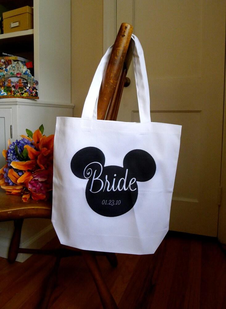 Wedding Gift Ideas Disney : bridal tote, Disney tote bag, personalized tote bag, wedding gift ...