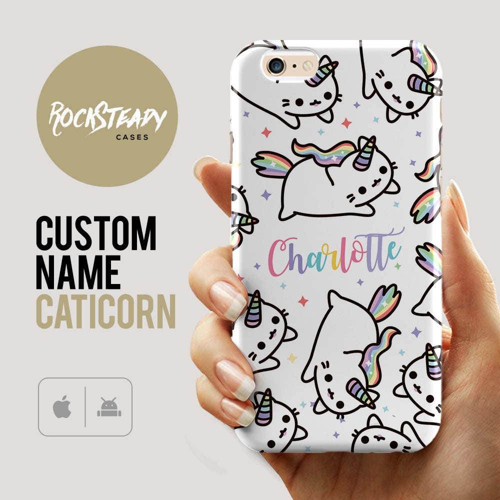 Caticorn phone case custom name iPhone 7 Plus iPhone 6 SE 5s Samsung Galaxy S7 case S6 S5 case 5s 5c SE kawaii Cat Unicorn gift
