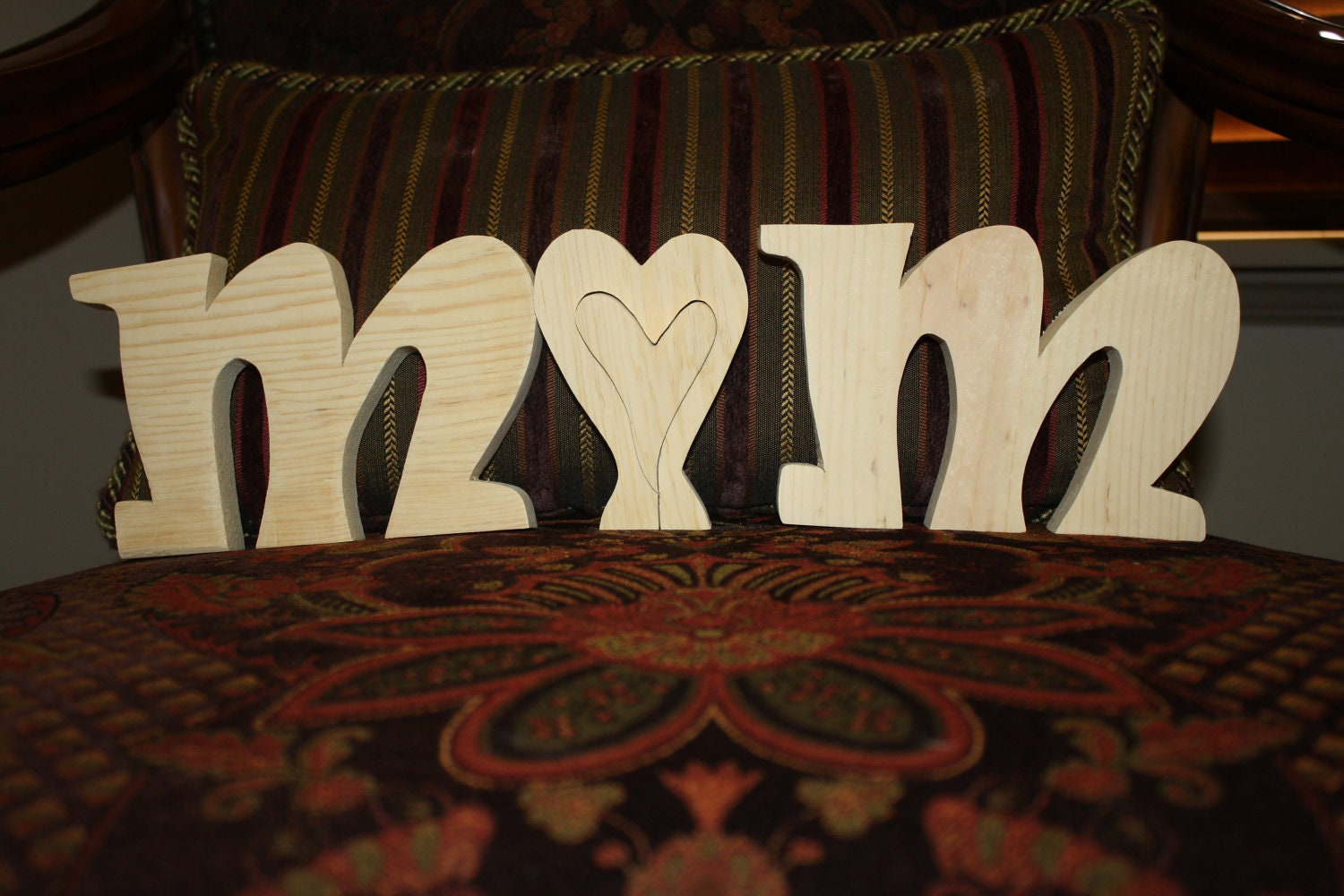 UNFINISHED MOM wood letters