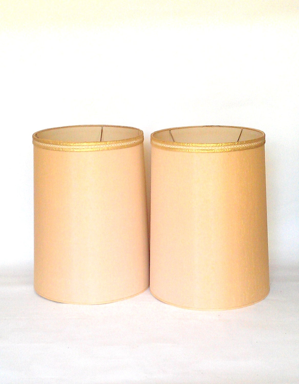 mid century extra tall drum lamp shades x 2 by timandkimshow. Black Bedroom Furniture Sets. Home Design Ideas