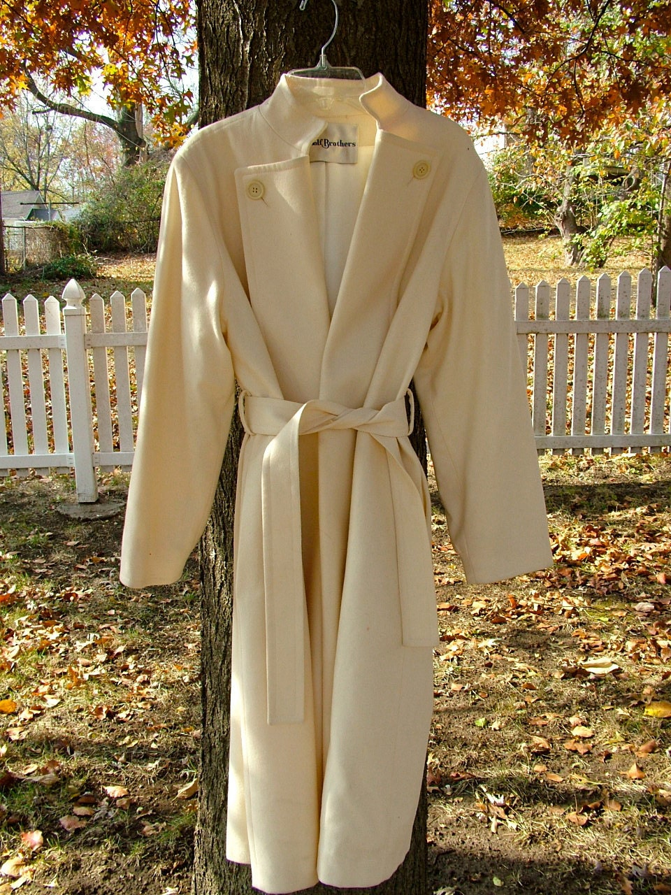 Gorgeous Cream Winter Coat by Woolf Brothers