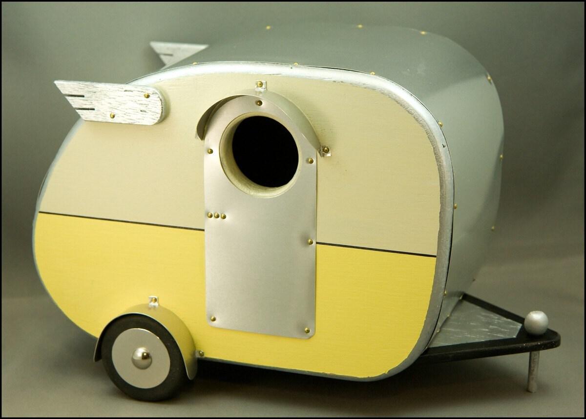 Reserved Item - Vintage Camper Birdhouse