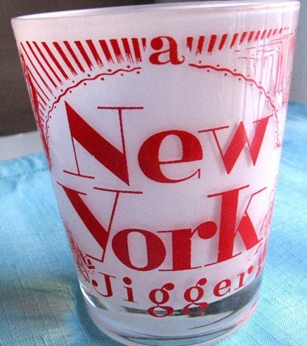 New York Jigger Glass Souvenir