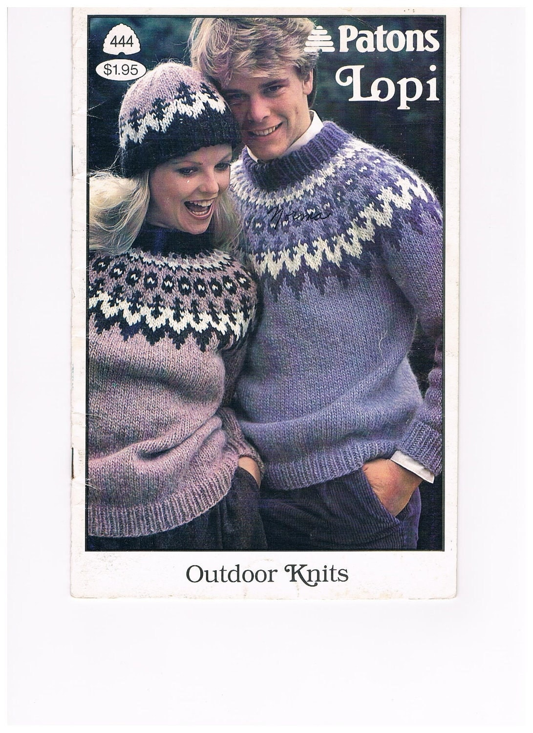 Patons Free Knitting Patterns : Patons Lopi Knitting Pattern Book No. 444 FREE by RegencyCottage