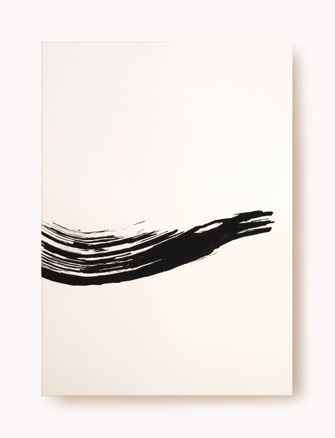 Original Fine Art Abstract Ink Drawing - Beauty way -  black  white  ink on acid free paper/ minimal drawing by Cristina Ripper - ComArt