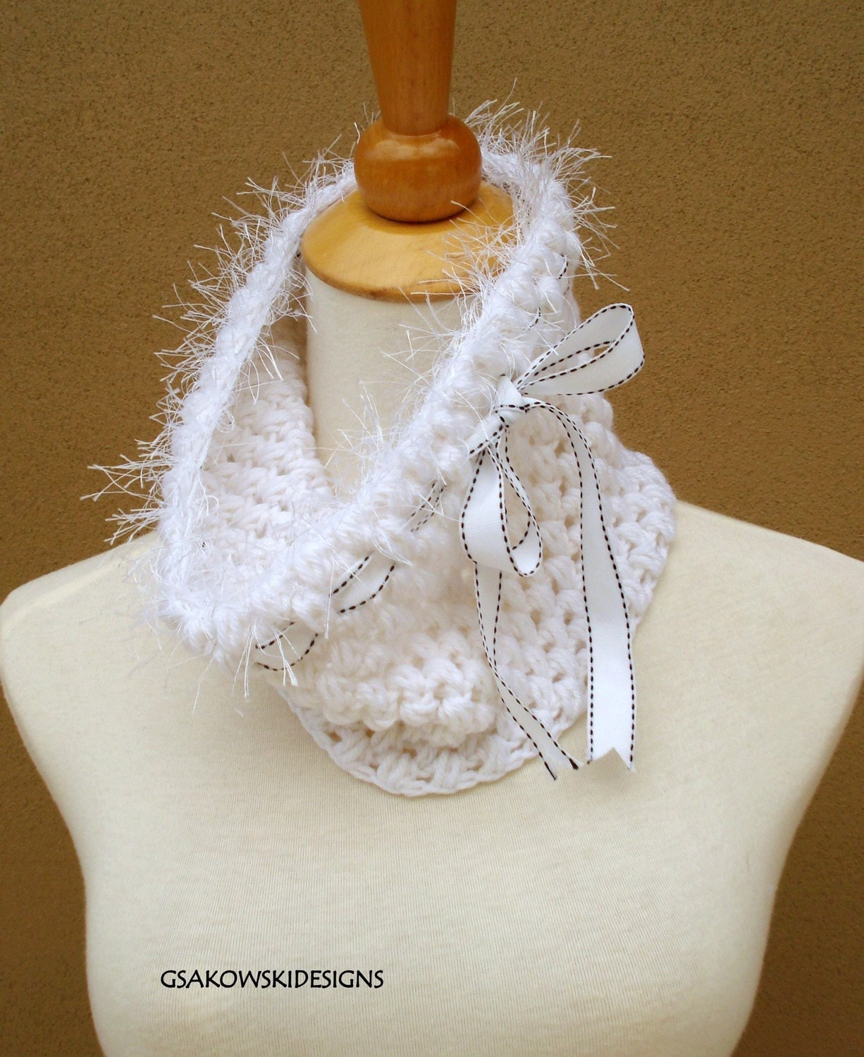 HOLIDAY SALE  Melissa-Cashmere Blend Cowl-White