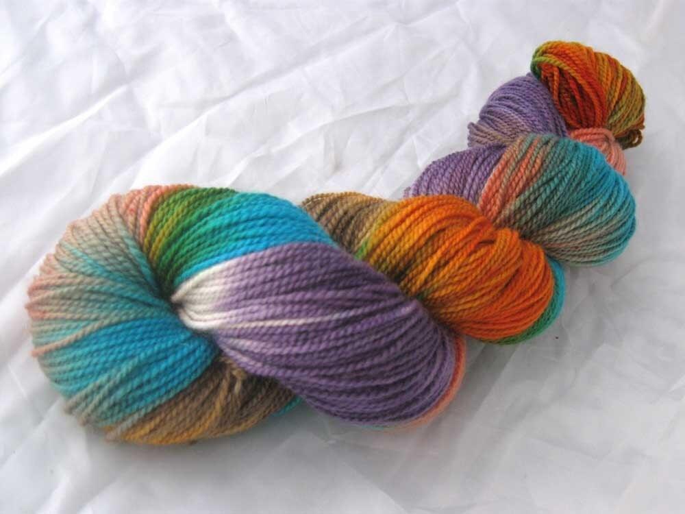 OY, THE KOI -- Hand Painted Superwash Merino Wool Fat Fingering Sock Yarn