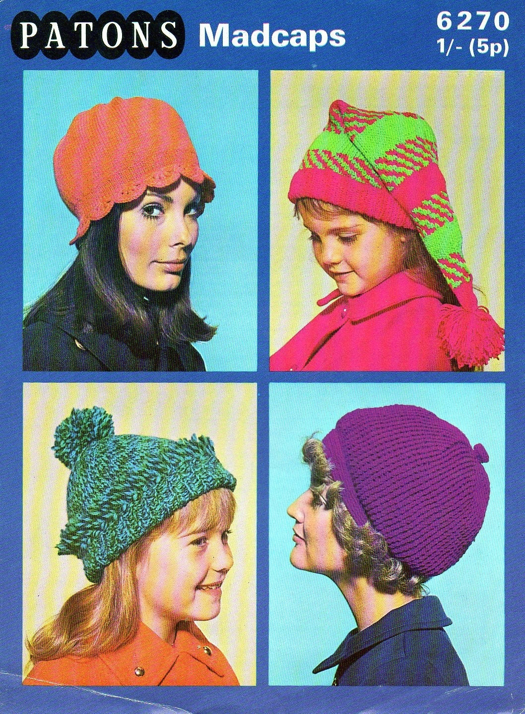 4 1970s Fashion Hats Cloche