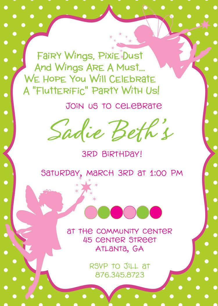 Fairy Birthday Invitations is one of our best ideas you might choose for invitation design