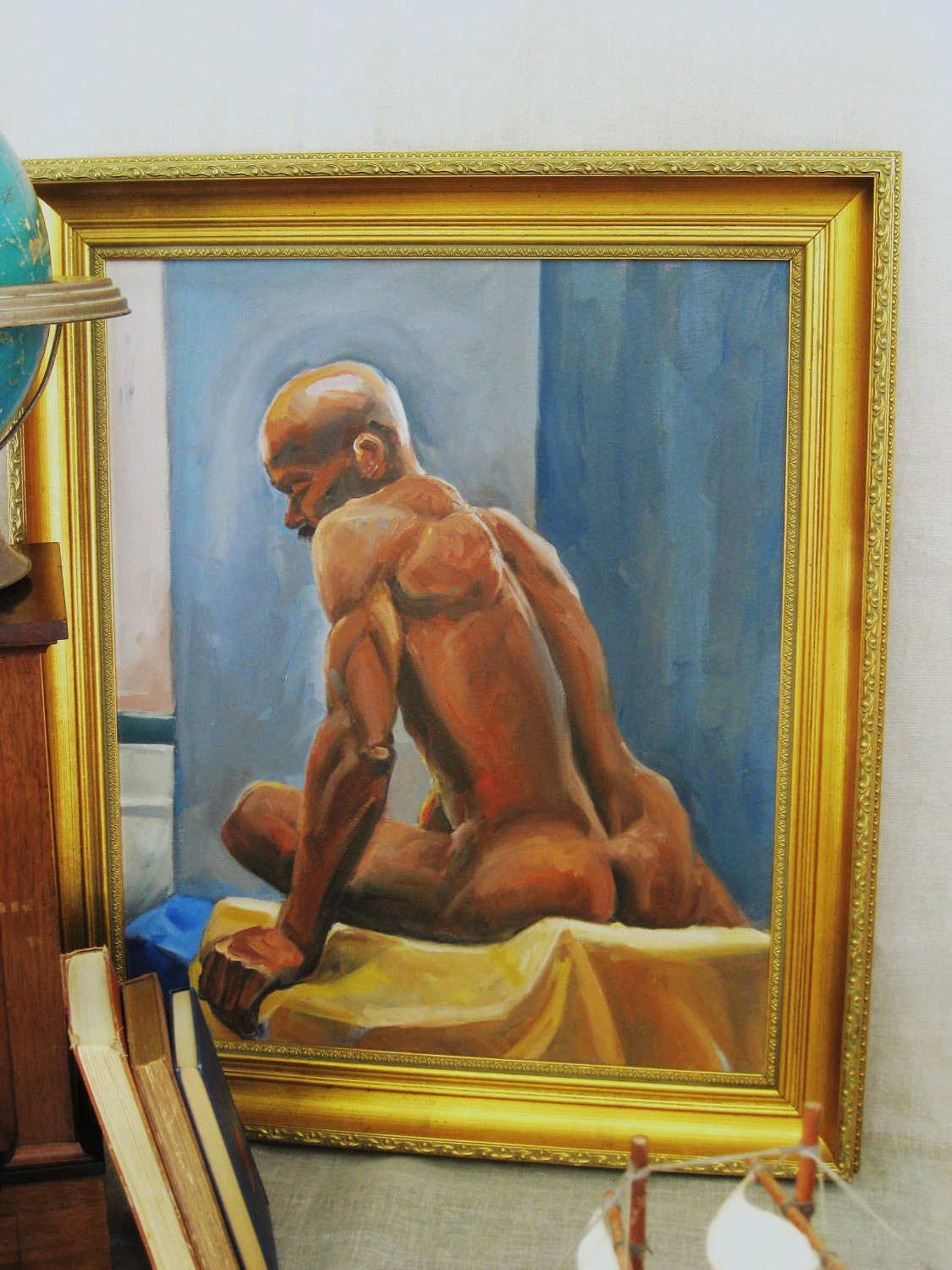 Vintage Portrait Nude Male- Vintage Art Gallery. From wilshepherd