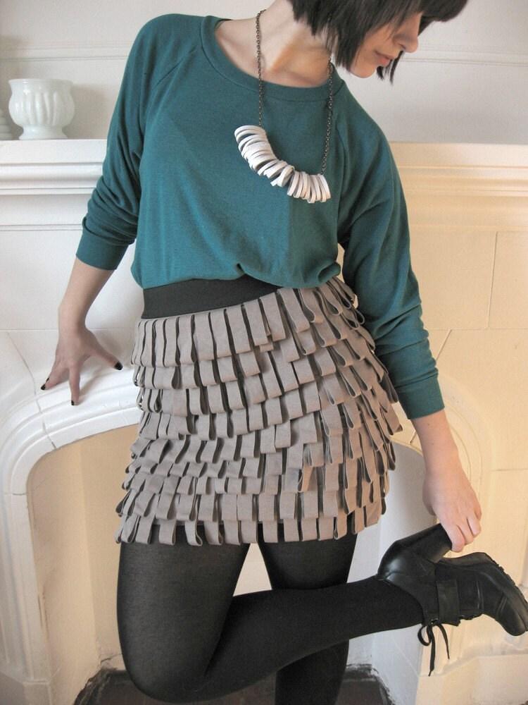 Custom Jersey Fringe Bandage skirt - various fabrics/colours