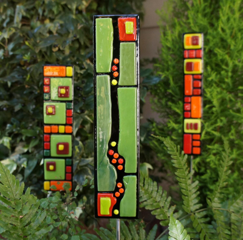 make garden candle stake