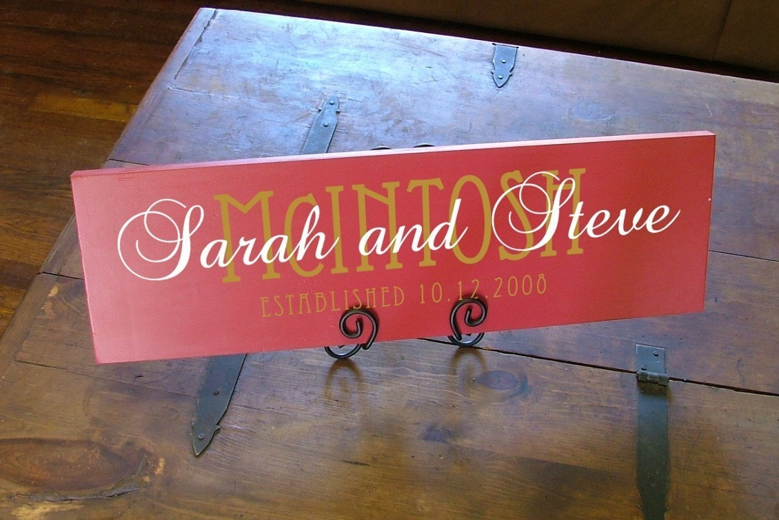 The Twosome - Custom Personalized Family Name Wood Sign
