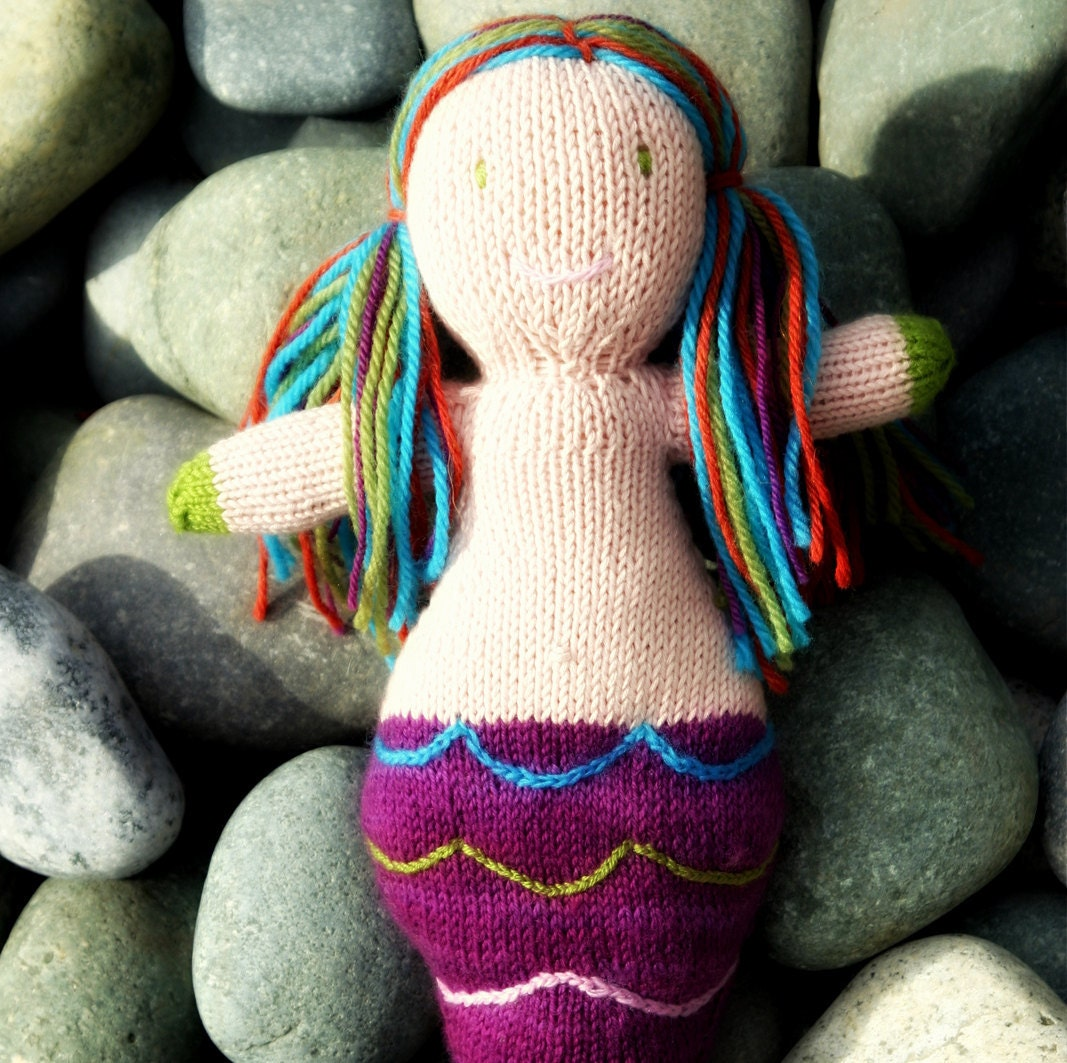 Items similar to Coral the Mermaid Doll Knitting Pattern on Etsy