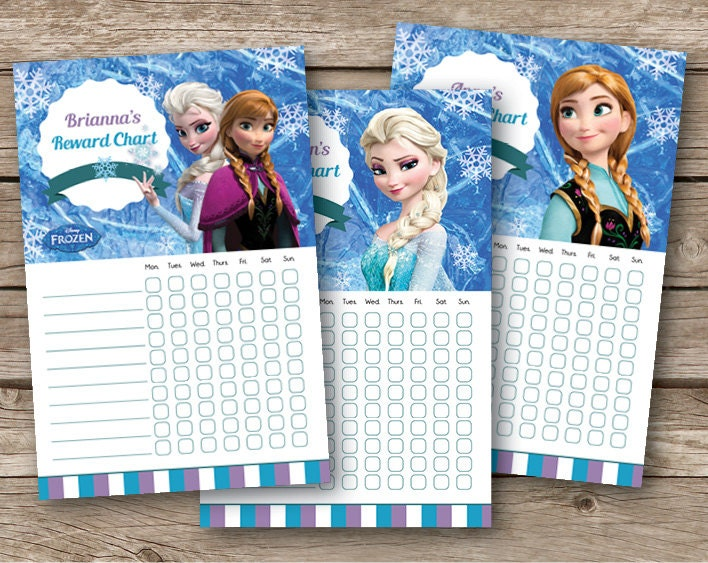 Printable Frozen Chore Charts