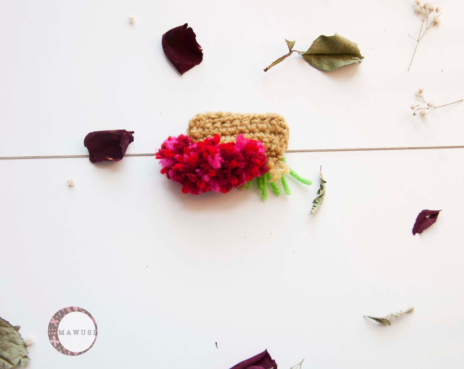 NEW: ESI Colorful Crochet Brooch - Mawusi
