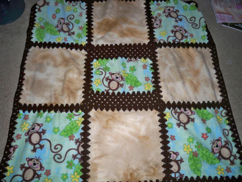 Crochet Monkey Blanket   Crochet Club