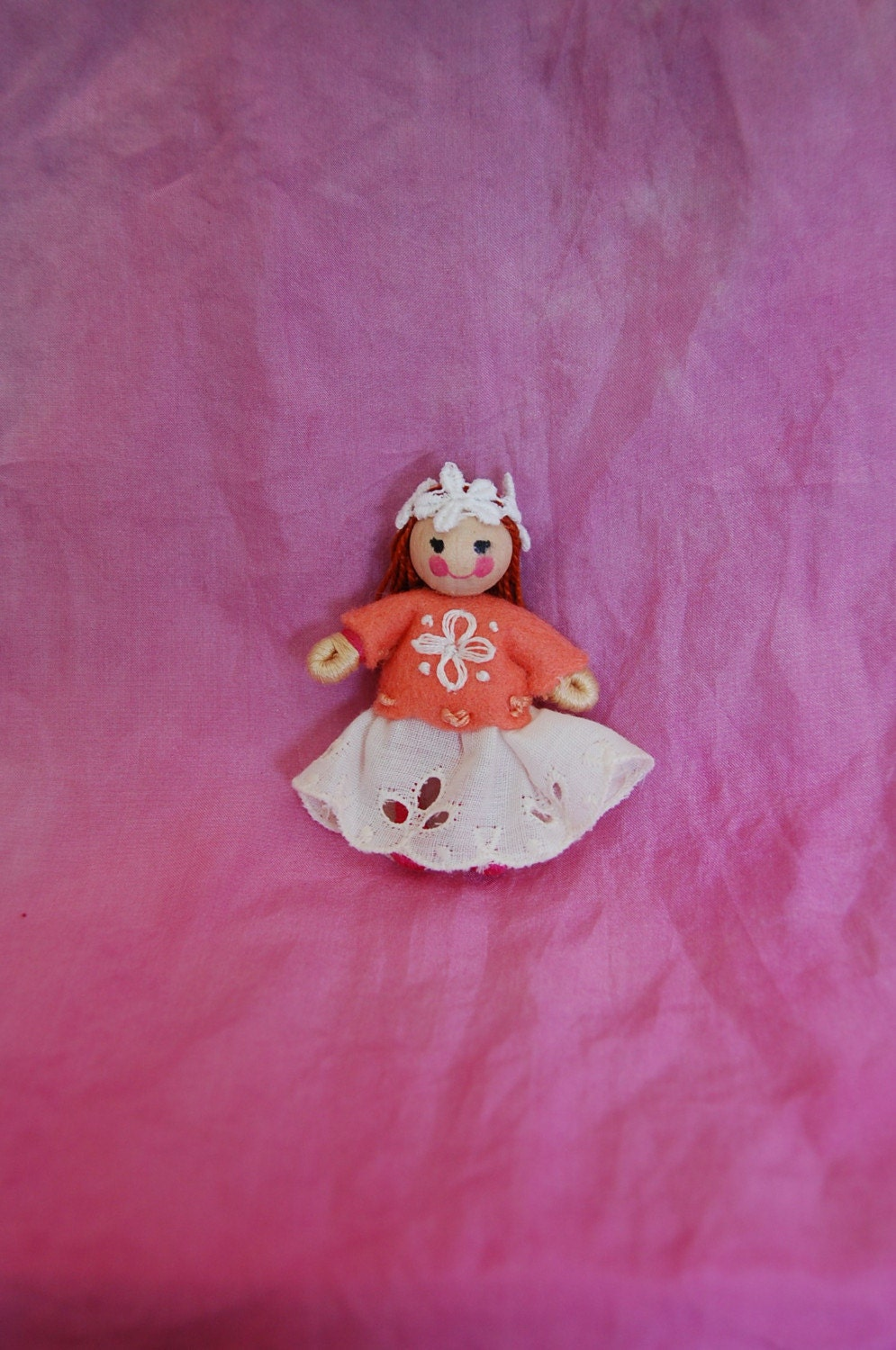 Little Folk Dancer Doll dressed in Wool Felt Waldorf Inspired