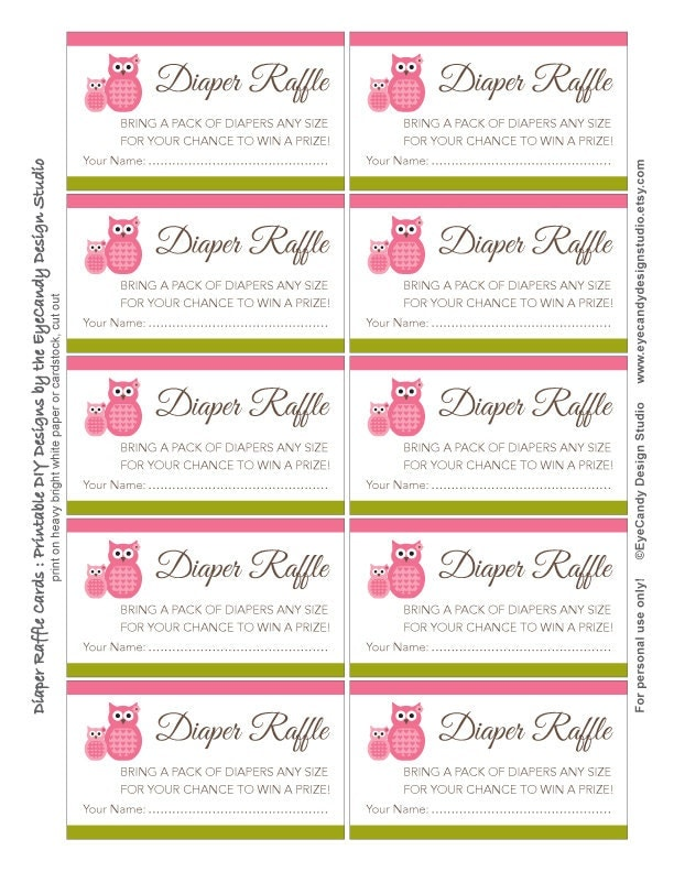 Trust image inside free printable diaper raffle tickets