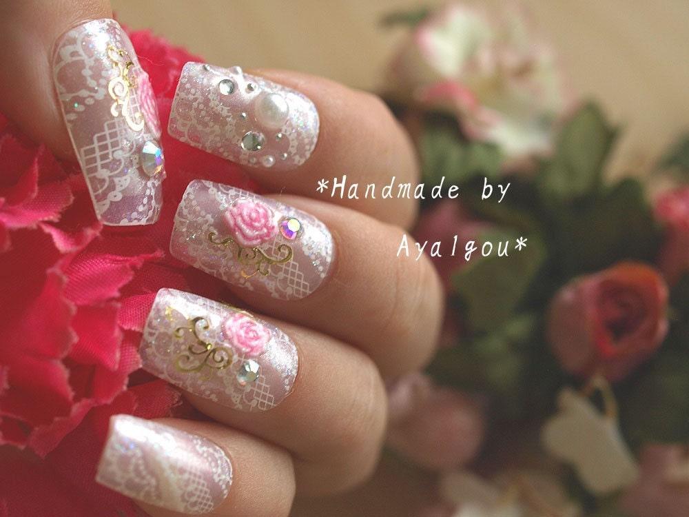Shiromuku, bridal nail set from Japan