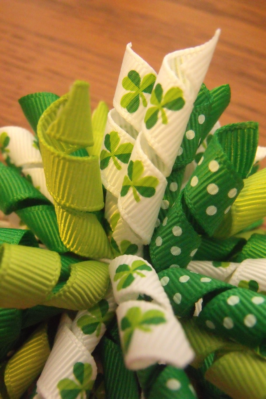 St Patricks Day Korker Hairbow