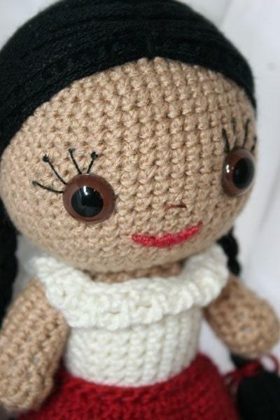 Crochet Pattern- Sarita Amigurumi Mexican Doll