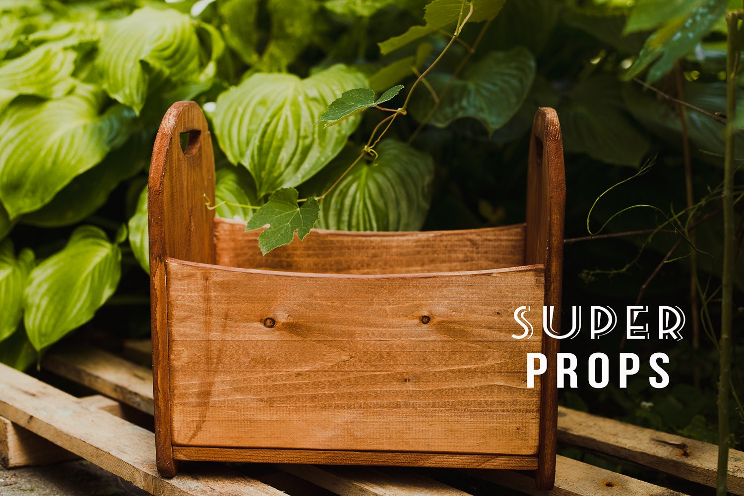 Wooden props for photography
